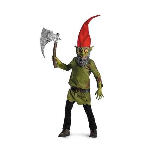 kids wicked troll ugly monster scary garden gnome halloween costume sz m 8 - Scary Halloween Costumes For Children