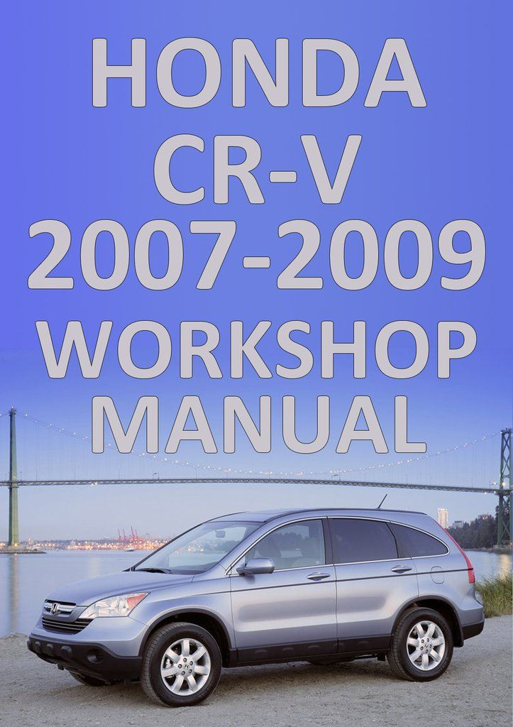 cr-v workshop manual