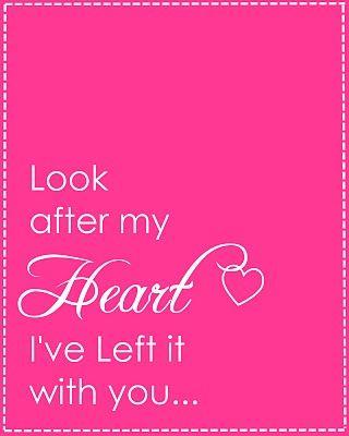 Cuide do meu coração que deixei ele com você.