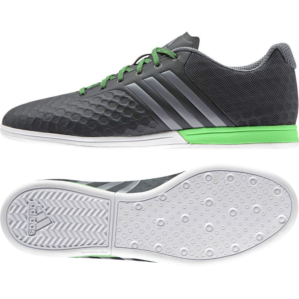 brand new 7f41a 52ecd Adidas Futsal Shoes Indoor Men Ace 15.2 Court New B32885 Dark Grey Flash  Green