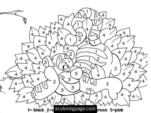 color by numbers tigger winnie the pooh | Coloring pages ...