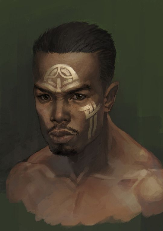 black fantasy characters men of color in fantasy art | anime character design