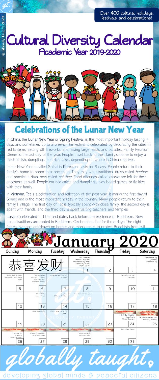 Cultural Diversity Calendar 2020 2021 Multicultural Holidays And Festivals In 2020 School Calendar Cultural Diversity Multicultural Activities