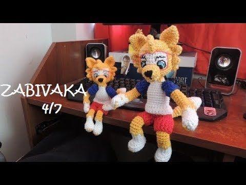 Amigurumi Crochet Personajes : Zabivaka lobo mascota mundial amigurumi crochet parte