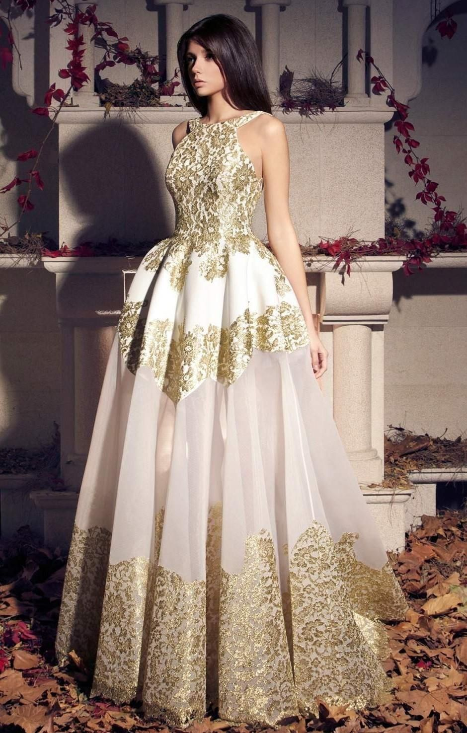 2016 Elegant White And Gold Lace Wedding Dresses A Line Strapless Lace Up Back Chapel Train Off The Shoulder Real Photos Bridal Gowns Affordable Dresses Bridal Dresses Online From Caradress, $155.78| Dhgate.Com