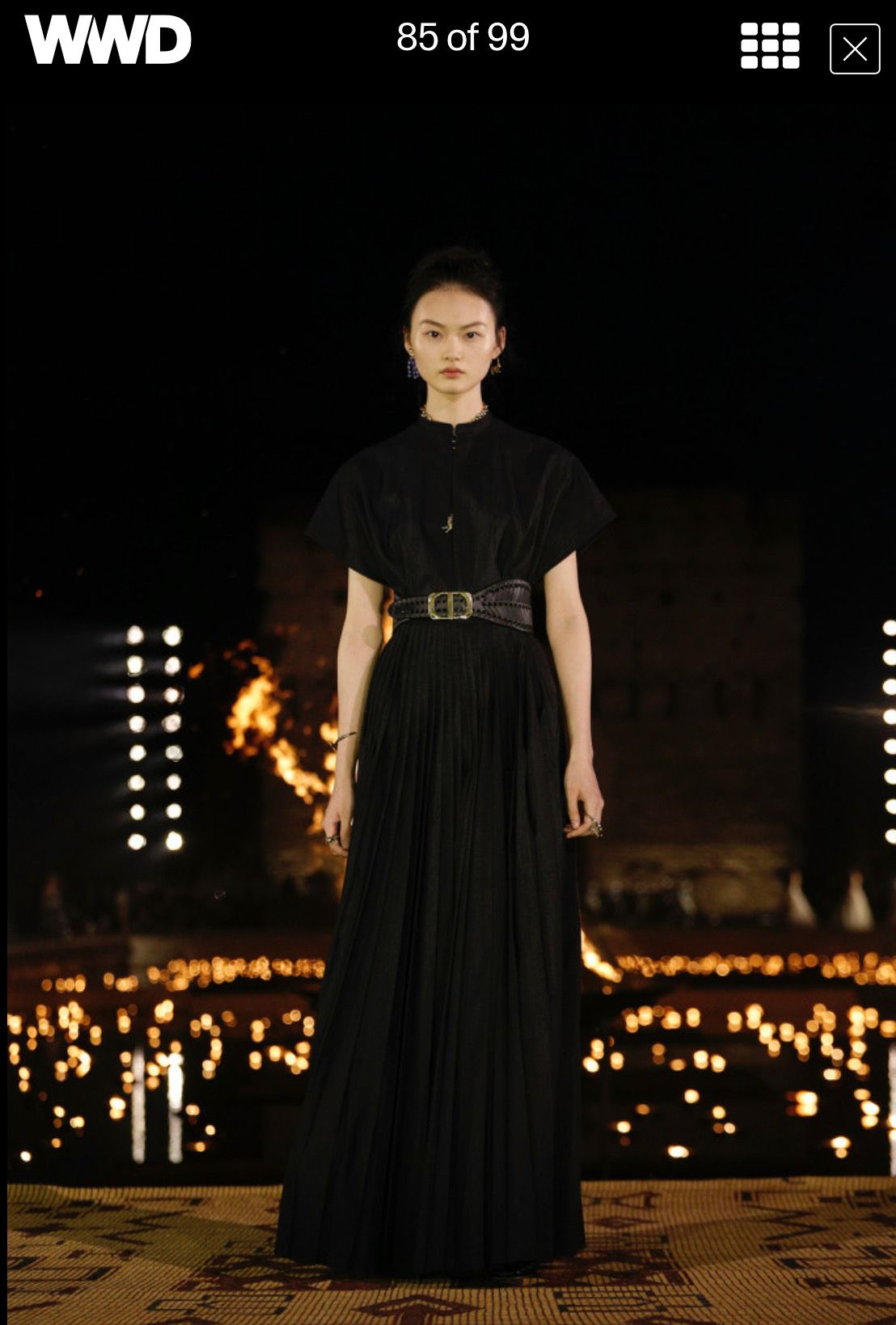 Cruise Wear 2020.Dior 2020 Cruise Collection Knife Pleat Maxi Natural Waist
