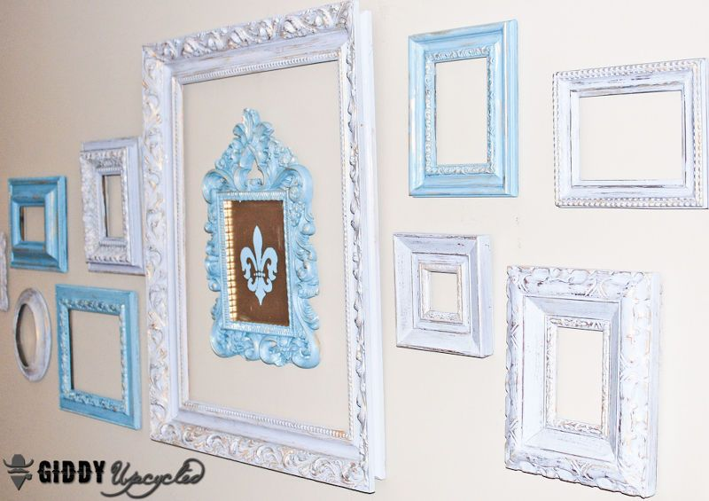 Vintage Frames Spray Painted White For Gallery Wall | Painting ...