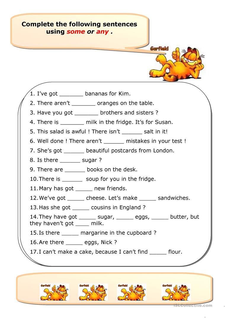 Some Any Worksheet Free Esl Printable Worksheets Made By Teachers English Worksheets For Kids English Grammar Worksheets Learning English For Kids [ 1079 x 763 Pixel ]