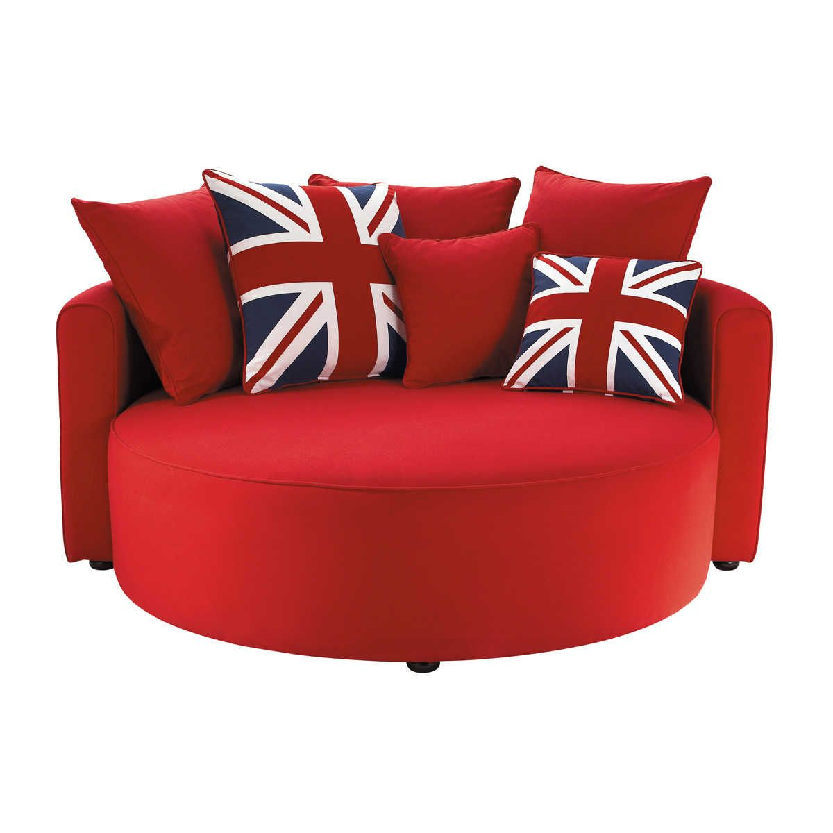 Canap rond british for Petit canape pour chambre ado
