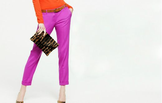color combo obsession - pink & orange J. Crew Fall 2011