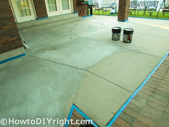 Awesome How To Restore Concrete Patio : Easy Steps ! I Was Introduced To Rust Oleum