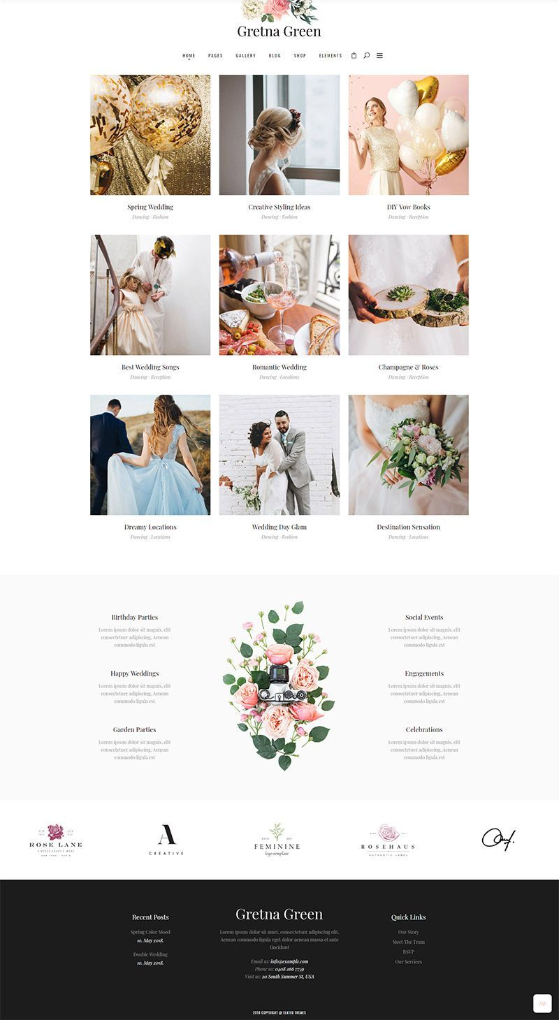 Say I Do To Website Perfection With Gretna Green A Wordpress Theme For Wedding Planners And Celebrations Made To Stea Gretna Green Gretna Stress Free Wedding