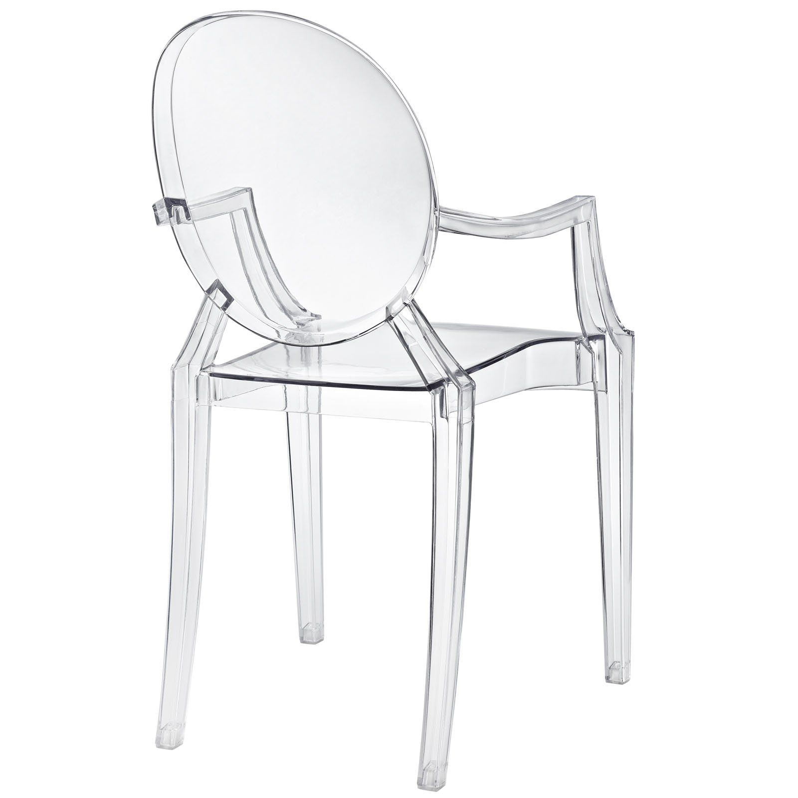 Modway Casper Modern Acrylic Dining Armchair In Clear 1 Chair