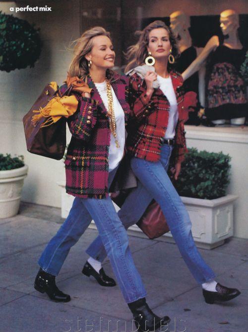 """80s-90s-supermodels: """"A Perfect Mix"""", Vogue US, circa 1991Models ..."""