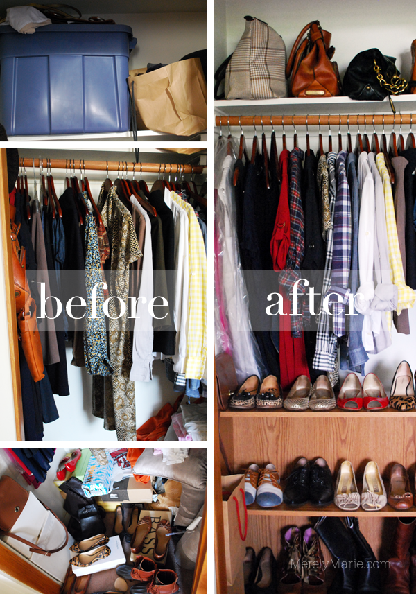 Closet Cleaning: Before And After.
