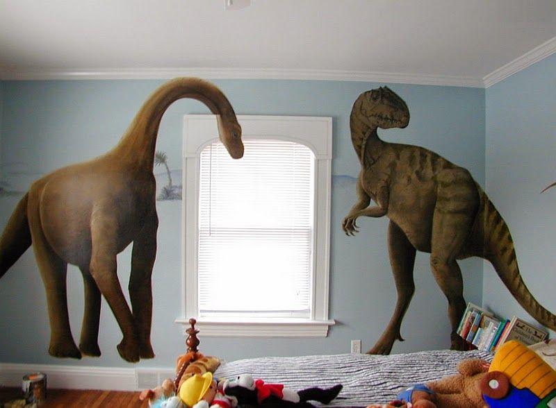 Dormitorio De Ni 241 Os Decorado Con Dinosaurios Dormitorios