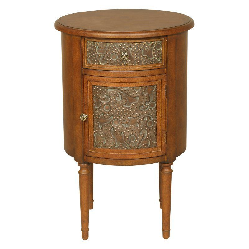 Passport Accent Furniture Round Storage Accent Table 4281 End