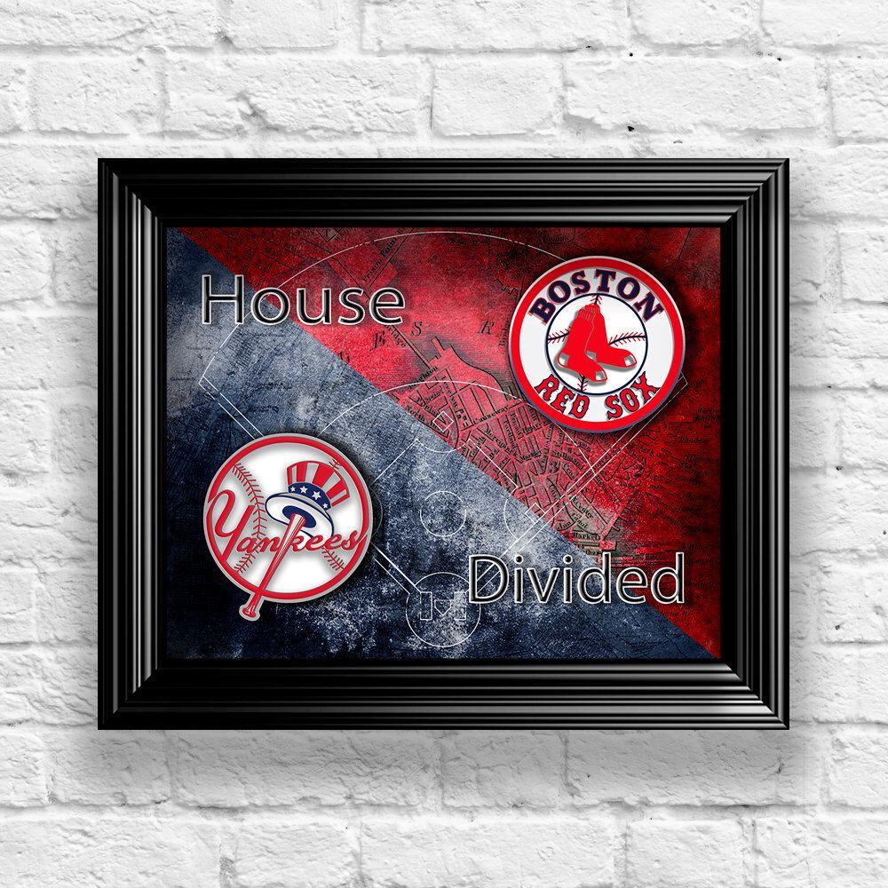 Mlb house divided baseball art mlb poster choose your