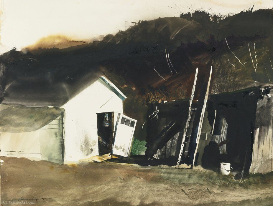 Lampe de Grange de Andrew Wyeth (1917-2009, United States)