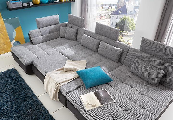 Wohnlandschaft Free Sofa Ecksofa In Silber Und Graphite H Cool