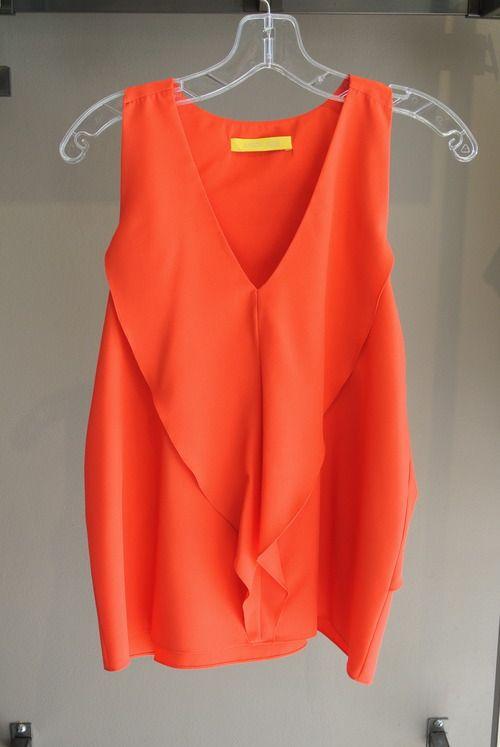 Italia Top in Tangerine via boutiika.com $104