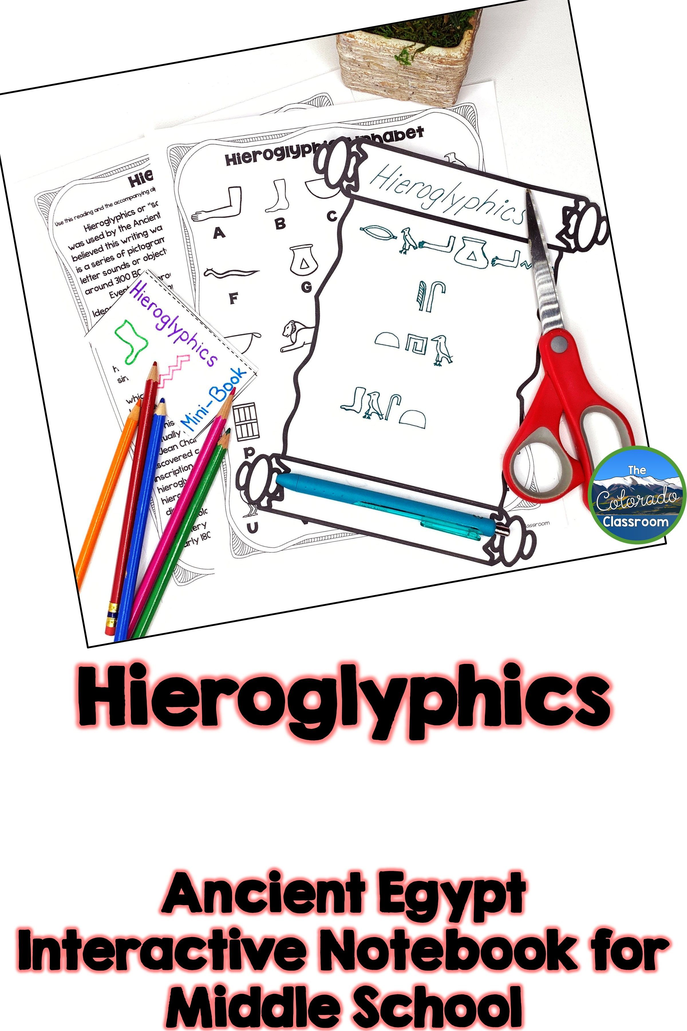 Learn About Hieroglyphics And The Social Classes Of Egypt In This Lesson On The Social World O Interactive Notebooks Classroom Activities Life In Ancient Egypt [ 3600 x 2400 Pixel ]