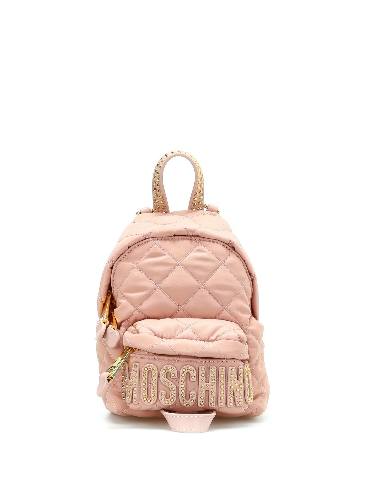 MOSCHINO QUILTED NYLON MINI BACKPACK. #moschino #bags #leather #nylon #backpacks #