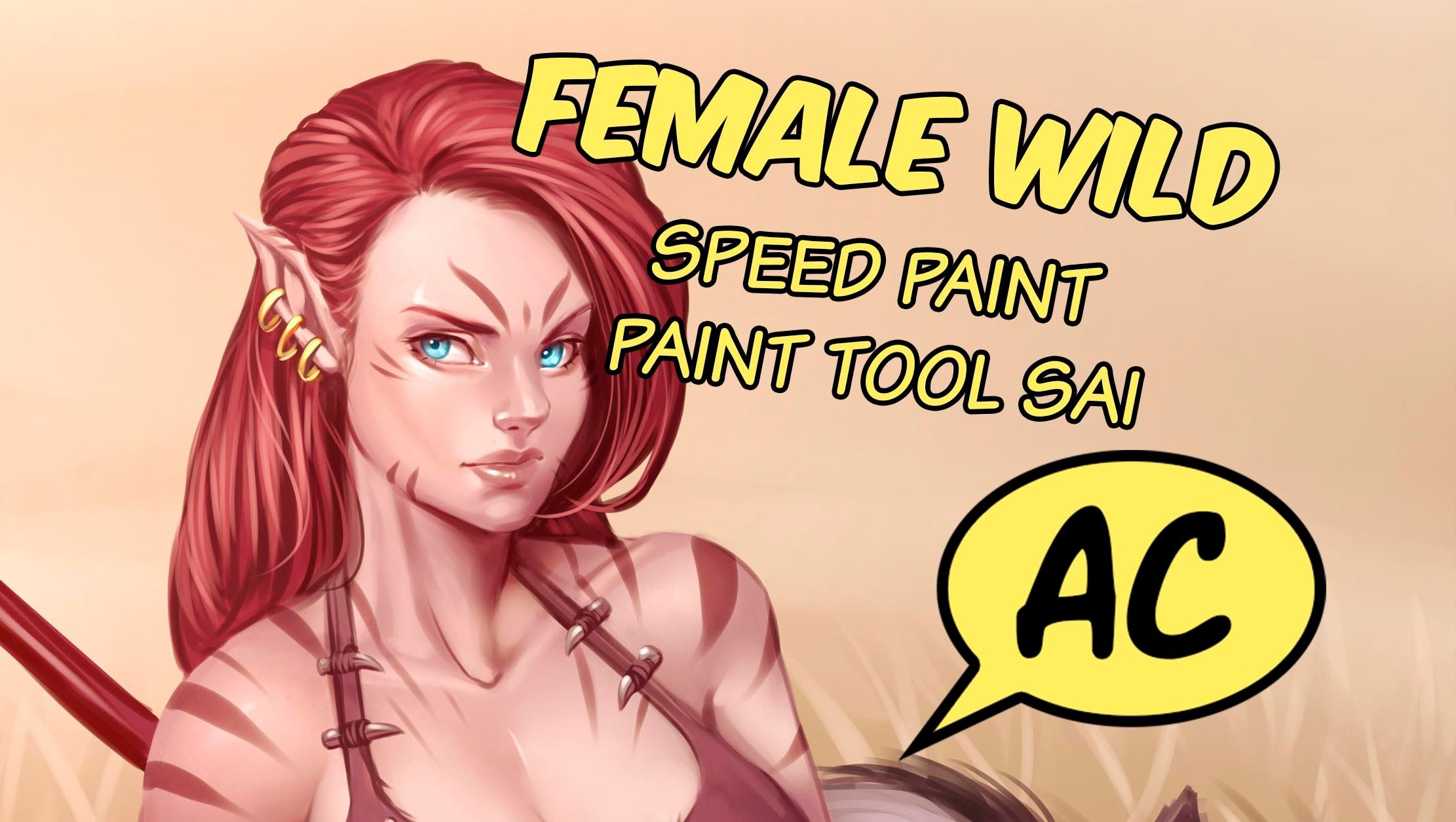 Female Wild _ Speed paint _ Paint tool Sai