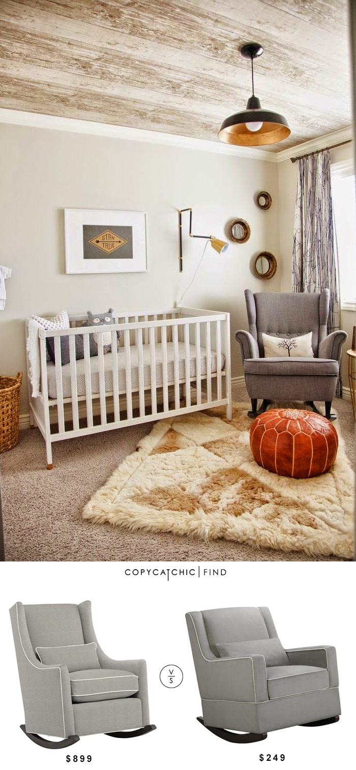 nursery rocking chair wayfair recovering a land of nod quincy rocker copycatchic daily finds baby landofnod 899 vs relax sydney 249