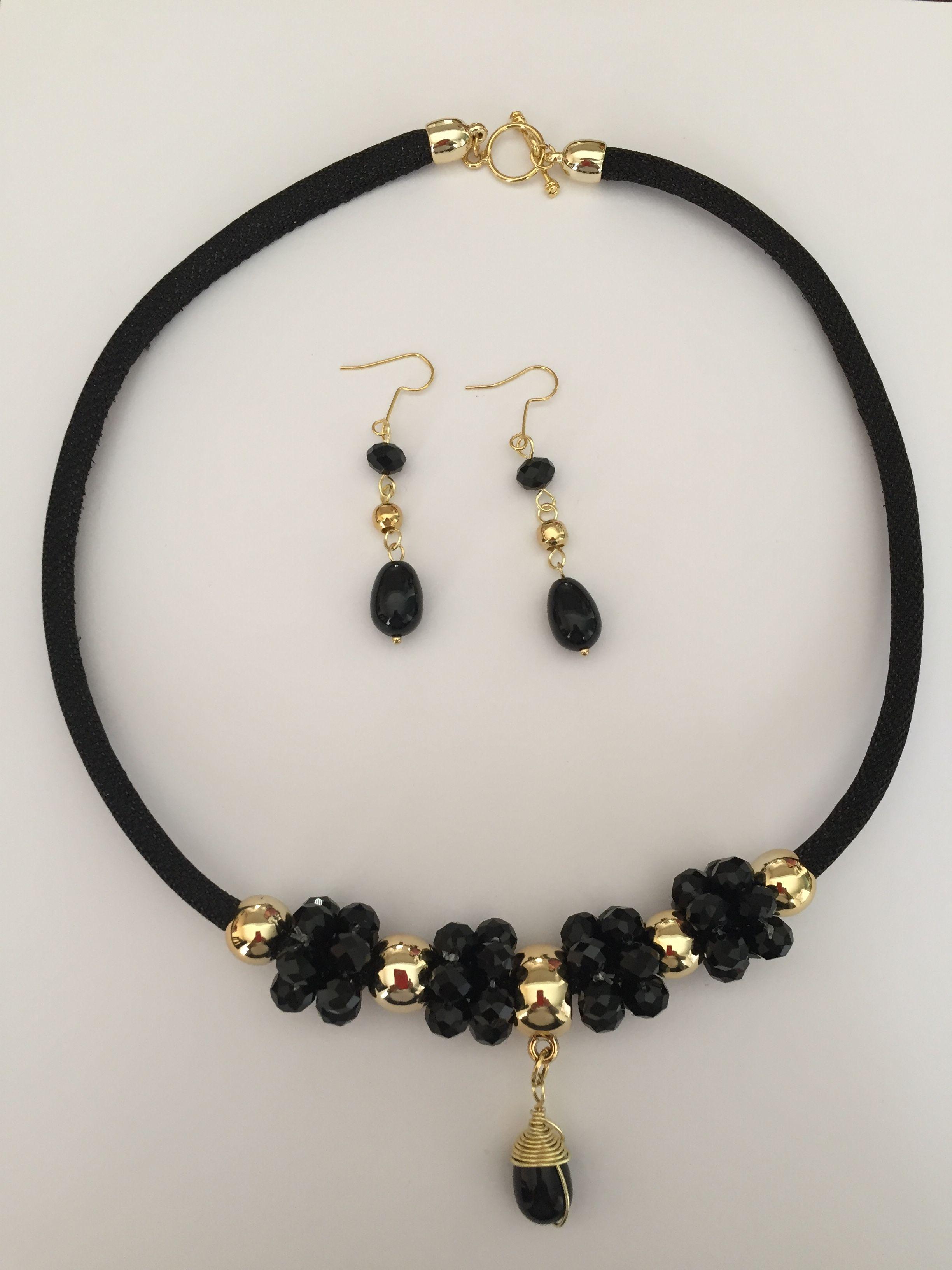 f8b26fb27d80 Juego collar y aretes Collares Modernos