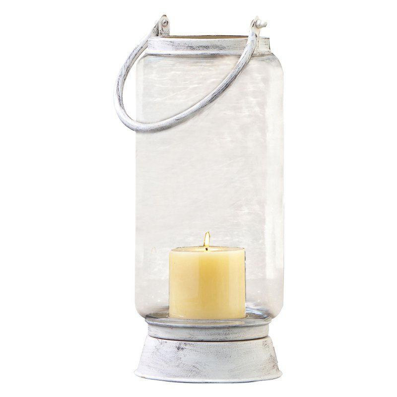 ELK Lighting Taos Lantern - Antique White / Clear - 401350