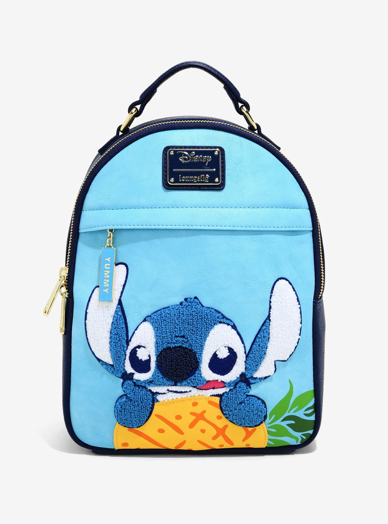 Loungefly Disney Lilo /& Stitch Pineapple Chenille Satchel Purse NWT