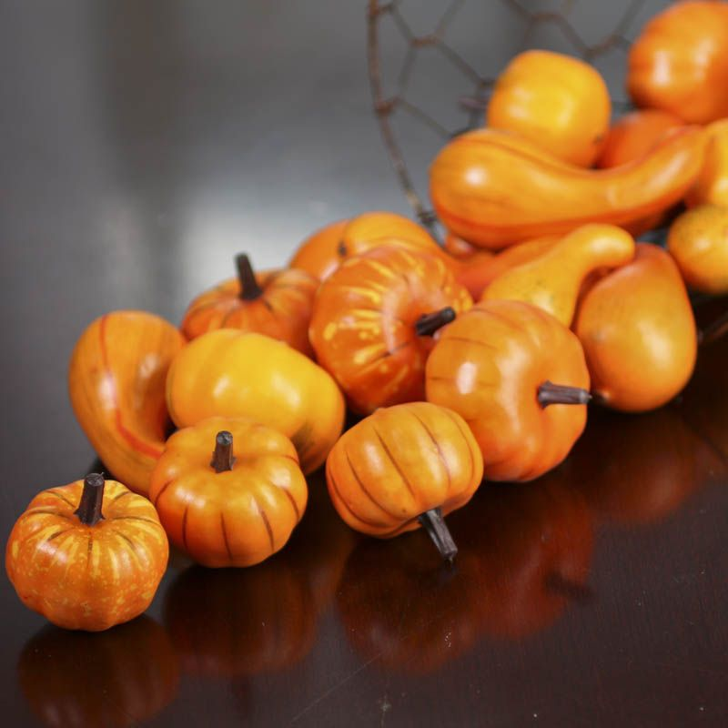 Miniature Artificial Pumpkins and Gourds