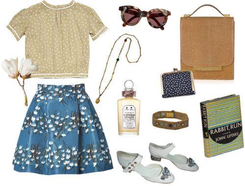 Dream Skirt #03 by fancyfine featuring a blue purse