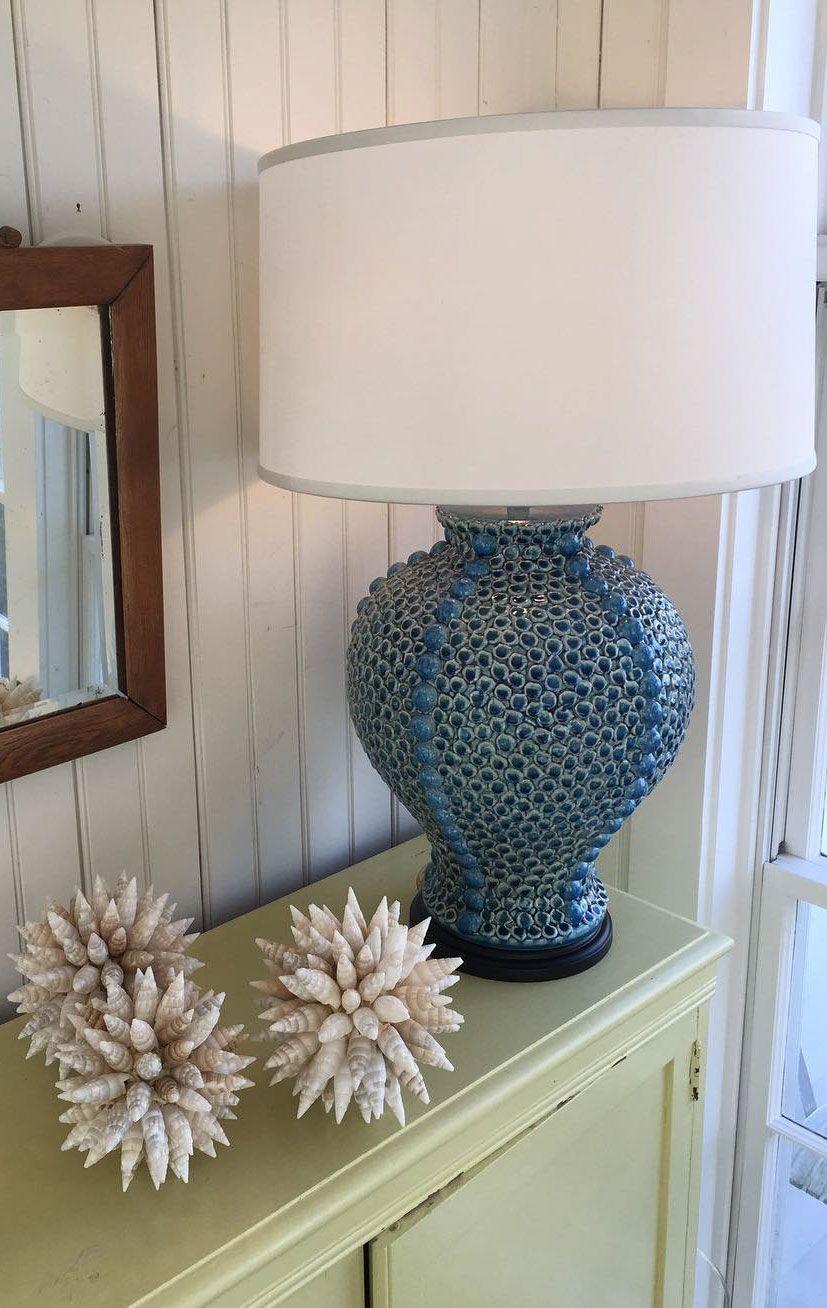 coastal decor lighting. Coastal Inspired Decor With Elegant Blue Ceramic Lamp In Glazed Finish; Is Available At InvitingHome.com; Decorating Ideas; Nautical Lighting H