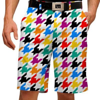 78baed9a1c Razzle Dazzle White Mens Golfing Shorts by Loudmouth Golf. Buy it @  ReadyGolf.com