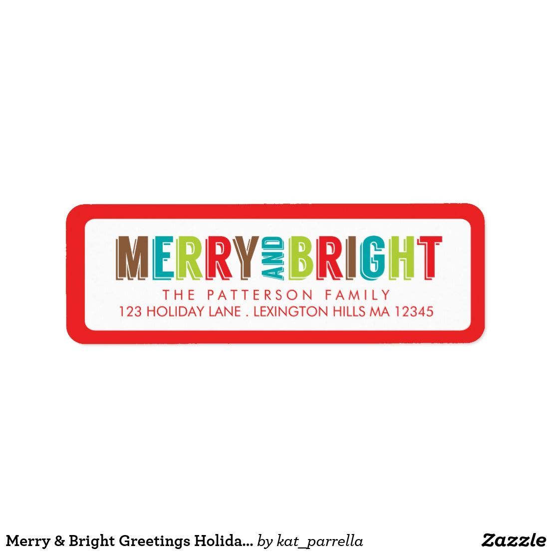 merry bright greetings holiday address label zazzle christmas