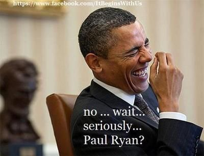 BLUE SIDE: Barack Obama's response to the Paul Ryan selection for VP.