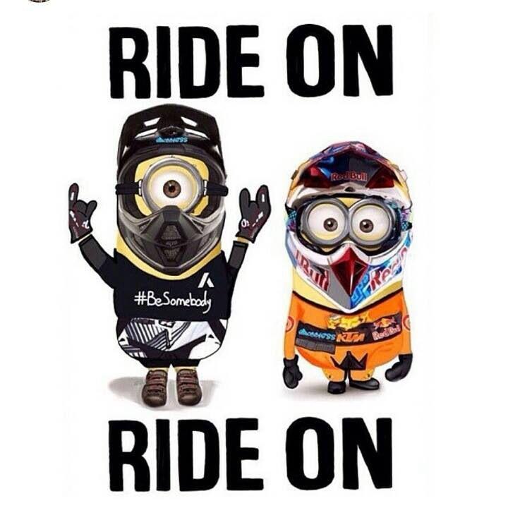 Dirt bike minions! Yes please!!
