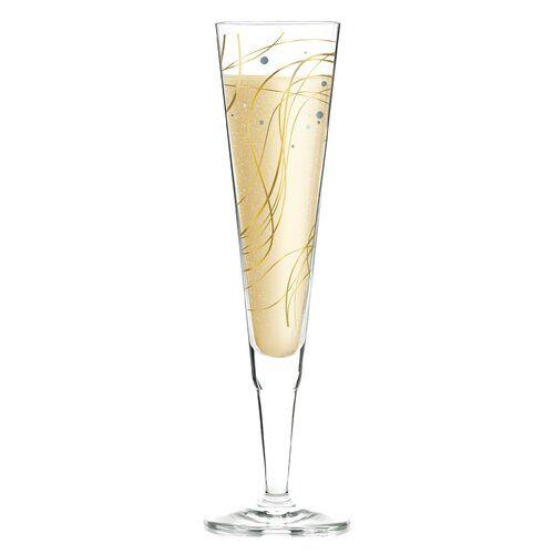 Ritzenhoff Champus 200ml Glass Champagne Flute Painted Wine Glasses Wine Glass Set Cocktail Glass