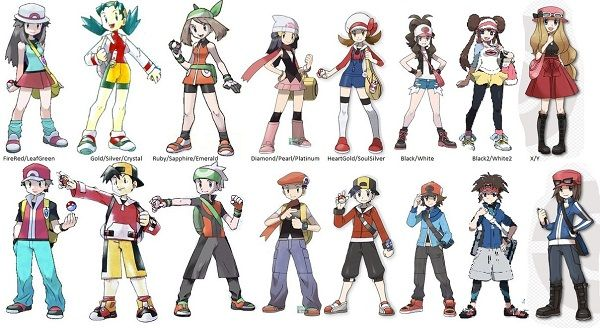 Leaf's original design had no hat, there was no girl in gen 1 ...