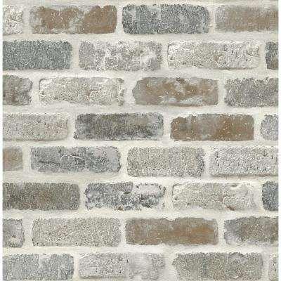 Roll The Home Depot Faux brick wallpaper, Faux brick