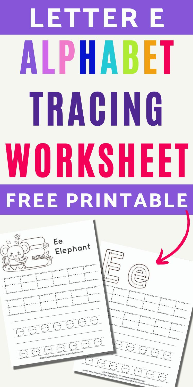 Free Printable Letter E Tracing Worksheets Tracing Worksheets Free Letter E Worksheets Tracing Letters Preschool [ 1500 x 750 Pixel ]