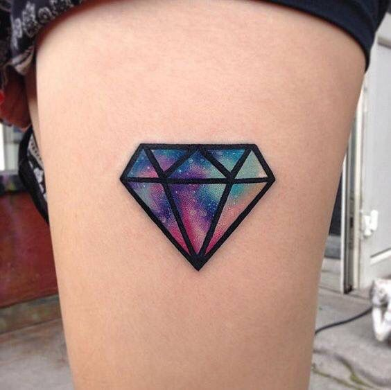 a464f70f03b97 Diamond watercolor tattoo | Tattoo Inspiration | Diamond tattoos ...