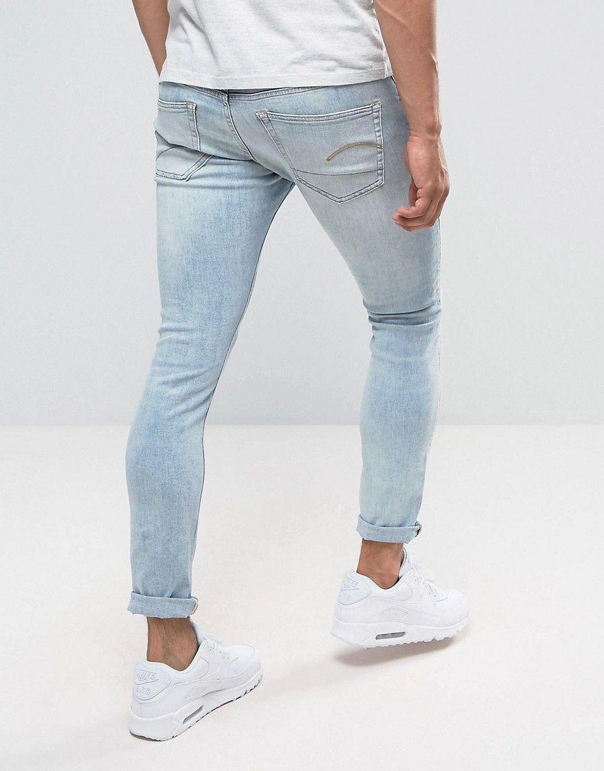 G Star 3301 Deconstructed Super Slim Jeans Light Aged Wash