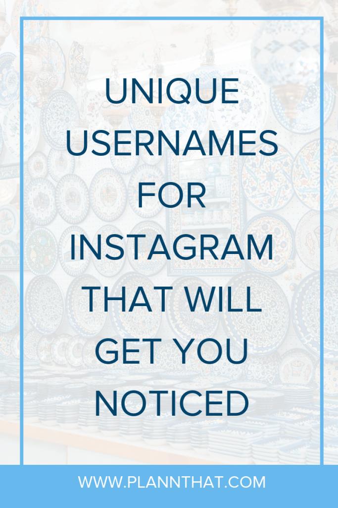 Aesthetic Instagram Usernames Ideas