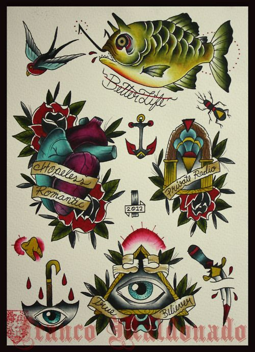 THE PUNK ROCK TATTOO FLASH COLLECTION - BOUNCING SOULS