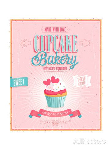Vintage Cupcake Poster Print by avean at AllPosters.com