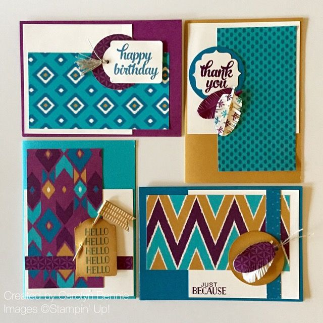 Carolyn Bennie - Australian Independent Stampin' Up! Demonstrator Bohemian Designer Series Paper Class