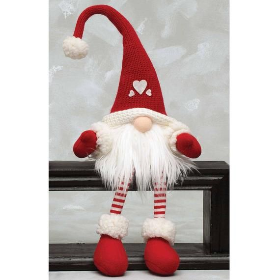 Available Now!  Start holiday shopping early my gnomes get adopted quickly Two options available:  Thank you!  #1 Heart Gnome 24 tall Or #2 Heart Gnome 36 tall (Note pricing differences on drop down menu based on size or height of gnome)  These will make excellent anytime gifts #lutindenoel